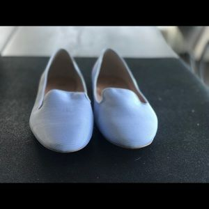 Light Blue pin striped summer shoes